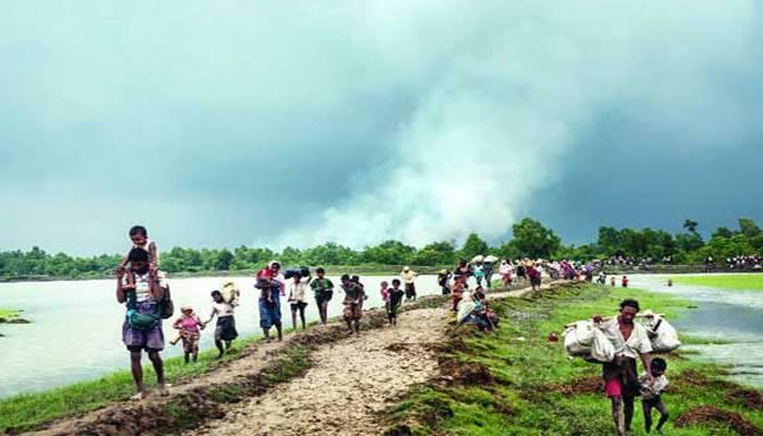 সীমান্তে দেড় শতাধিক রোহিঙ্গা বাংলাদেশে অনুপ্রবেশের অপেক্ষায়